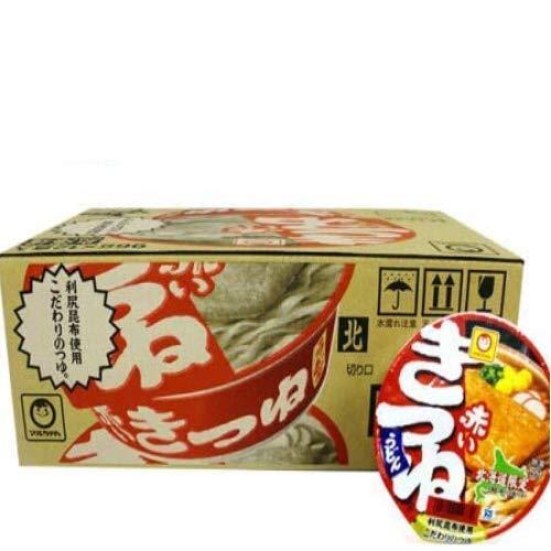 マルちゃん カップ麺 きつね うどん 即席カップめん 東洋水産 赤いきつね 12食入 1ケース(1箱) 北海道限定 カップうどん