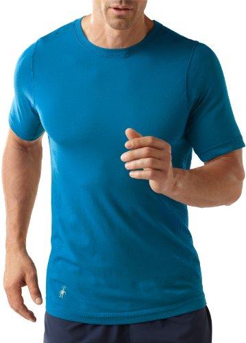 Smartwool Phd Run T-shirt à manches courtes pour homme Bleu Bleu arctique Large