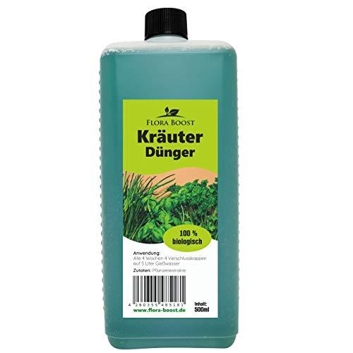 Flora Boost Kräuter Dünger für alle Kräuterpflanzen wie Basilikum. Petersilie, Rosmarin, Thymian usw. (500 ml)