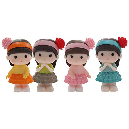 ZEXIN Kawaii Fairy Figurines Girl People Cute Statue Resin Craft Landscape Accessories Miniature Bonsai Figurine Mini Ornaments