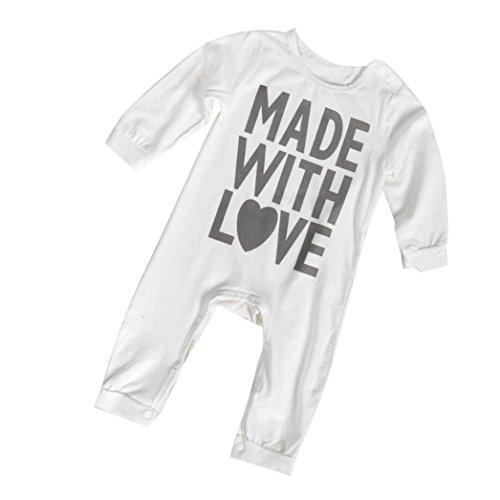 kingko® Bébé Garçon Fille Enfants Chaud Infant Manches Longues Romper Jumpsuit Bodysuit Coton Vêtements Outfit (3-6 Mois)