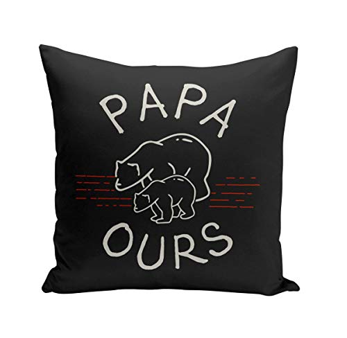 Coussin 40x40 cm Papa Ours Famille Mignon Animal