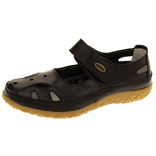 Footwear Studio Coolers Donna Ribes Nero (Nero) Cuoio Mary Jane Ballerine Scarpe Estive EU 36