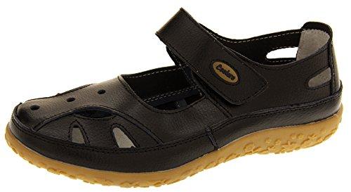 Footwear Studio Coolers Donna Ribes Nero (Nero) Cuoio Mary Jane Ballerine Scarpe Estive EU 38