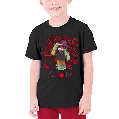 Camisetas Frisk Sans Chico Clásico Gráfico Algodón Cuello Redondo Adolescente Manga Corta...