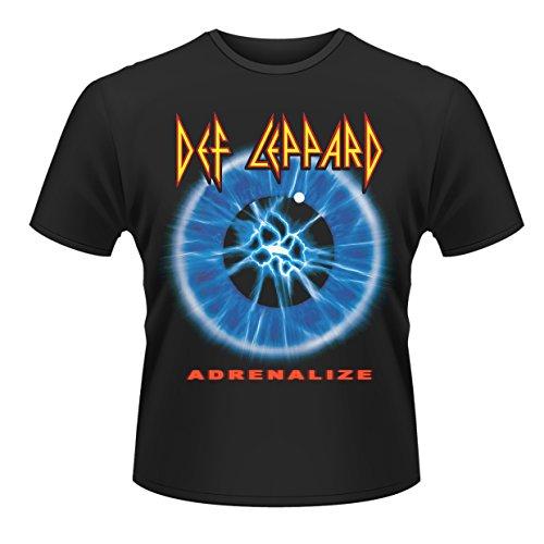 Plastic Head Def Leppard Adrenalize Camiseta, Negro, Medium para Hombre