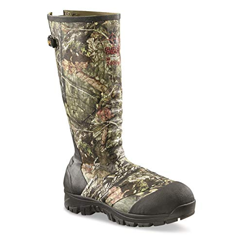 Guide Gear Men's Ankle Fit Insulated Rubber Boots, 2,400-gram, Mossy Oak Break-Up Country, 12D (Medium)