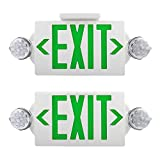 AKT LIGHTING Emergency Exit Light, Adjustable Two LED Head Exit Sign Light, Commercial Emergency Exit Lighting...