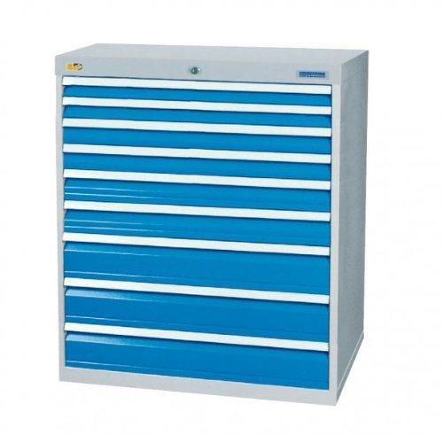 Schubladenschrank mit 9 Schubladen, inkl. Einteilungssortiment Schubladenschränke Breite 1000