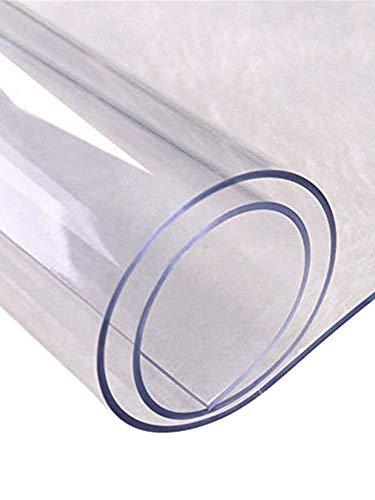 S-tubit Mantel de PVC Transparente de Varios tamanos Protector de Mesa Transparente de Bricolaje Cocina Comedor Alfombra de Mantel Resistente al Calor 90 90 cm Regular