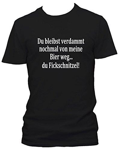 GEH verdammt nochmal von Meine Bier Weg New Kids Sprüche Fun Clubwear T-Shirt, Größe:L;Farbe:schwarz