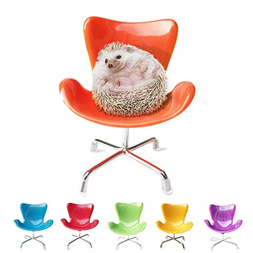 MUMAX Hedgehog Mini Plastic Armchair Toys Decor Cage Accessories Hedgehog Supplies Photo Props Chair Toy Great for Small Animals Hamster Bird Parrot Mouse Chinchilla Rat Gerbil Dwarf