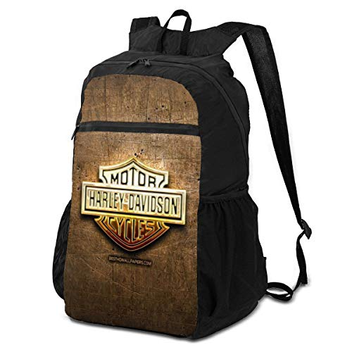 Harley Davidson Logo Outdoor Travel Backpack for Men and Women,Foldable/Lightweight/Waterproof/Large-Capacity