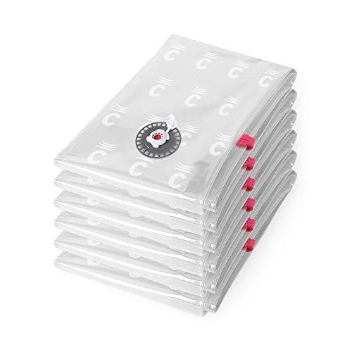 Compactor Transparente Lote de 6 Bolsas de Compresión Al Vacío, Aspispace, Talla L, Plano, RAN8716, Compression Bag 0.065 Mm Lldpe y Nylon