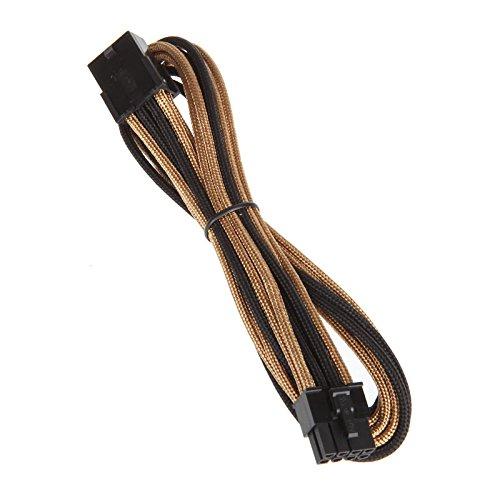 BitFenix PCI-E (8-pin) - PCI-E (8-pin), 0.45m - cables électriques (0.45m, Mâle/Femelle, PCI-E (8-pin), PCI-E (8-pin), Noir, Or)