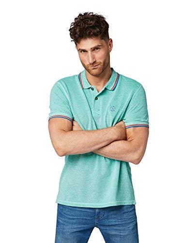 TOM TAILOR Herren 1008653 T-Shirt, Grün (Cucumber Green White 16129), XXX-Large (Herstellergröße: XXXL)
