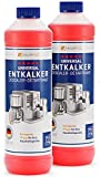 Entkalker 2x 750ml für Kaffeevollautomat & Kaffeemaschine - kompatibel mit allen Herstellern I Kaffee-Maschine I Vollautomat I Kaffeepadmaschinen I Kaffeautomat I Kalklöser I Kalk-Reiniger