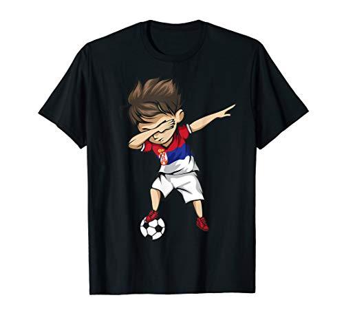 Dabbing Soccer Boy Serbia Jersey Shirt - Serbian Football