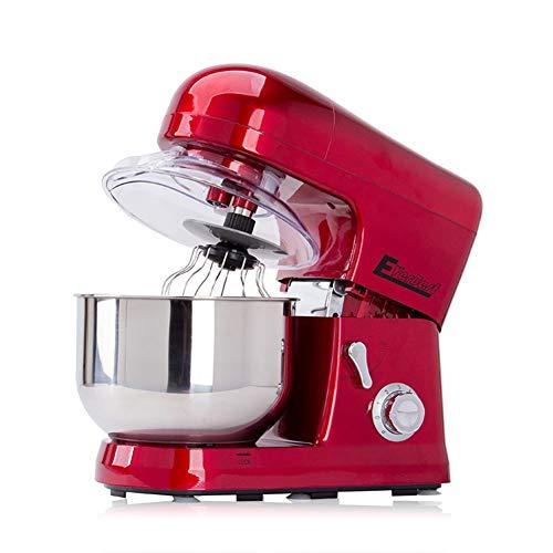 Küchenmaschine 1200 W, 5 Liter, 6-Stufen, Spritzschutz Und 3 Profi-Rührwerkzeuge rot