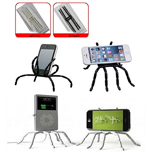 Universal Phone Car Holder Multi-Function Portable Spider Flexible Grip Holder for Smartphones and Tablets, for Ipod Iphone X 6/6s/7/7s/8 Samsung Galaxy Andriod Mp4 (2Pack black and white) Guang-T