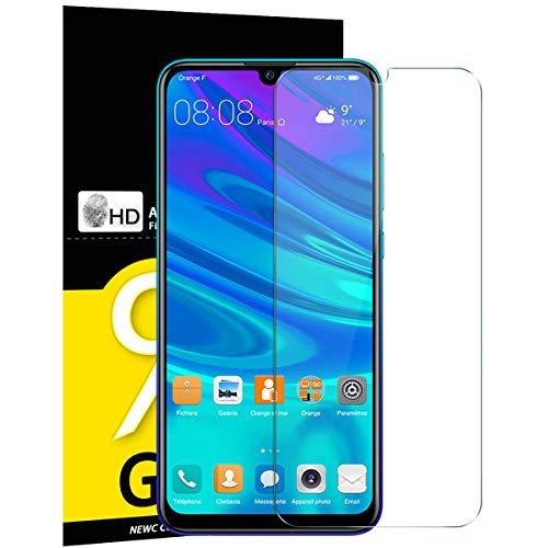 NEW'C 3 Unidades, Protector de Pantalla para Huawei P Smart 2019, Honor 10 Lite, Honor 8A, Antiarañazos, Antihuellas, Sin Burbujas, Dureza 9H, 0.33 mm Ultra Transparente, Vidrio Templado Ultra Resistente