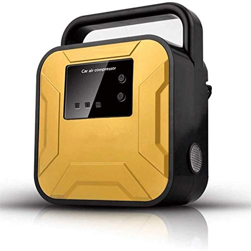 GOVD Neumático COMPRESOR DE Aire Auto INFLADOR Neumáticos Coche Compresor de Aire eléctrico Recargable Multifuncional para automóviles/Motocicletas/Bicicleta Bomba de Aire (Color : Yellow)
