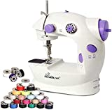 Mini Sewing Machine Adjustable 2-Speed with Foot Pedal, Dual Power Options, Electric Crafting
