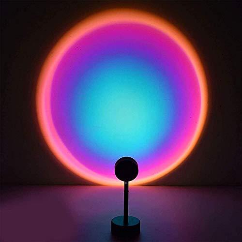 Sunset Lalan P Rain Beaucens - Juego de lámpara de pie con carga USB, luz nocturna, lámpara de pie, luz para dormitorio, proyector romántico, regalo (color : arco iris)