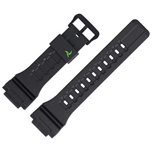 Casio STL-S100H - Correa de Repuesto para Reloj (27 mm, plástico), Color Negro