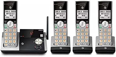 $94 » AT&T CL82415 DECT 6.0 Expandable Cordless Phone with Answering System, Silver/Black with 4 Handsets