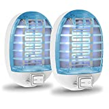 Bug Zapper Indoor Plug in,Fly Traps for Indoors,Indoor Mosquito Killer,Indoor Fly Trap Indoor Mosquito Trap,Blue,2pack