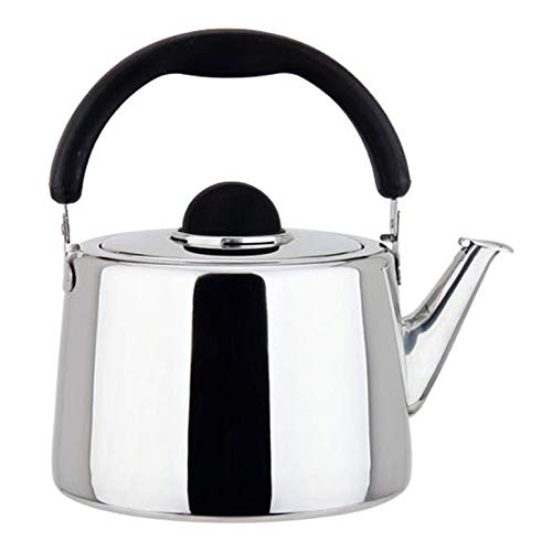 Modern Stainless Steel Stove Top Whistle Teapot, Ergonomic Heat-Resistant Handle, for Tea Coffee Milk 3l-6l (Color : Silver, Size : 4.5L) kettle