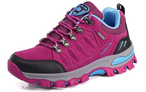Eagsouni Wanderschuhe Herren Damen Wanderstiefel Atmungsaktiv Turnschuhe Sportlich Bequem Outdoor Walking Wandern Trekking Anti-Rutsch Schuhe für Unisex, A Rosa, 39EU