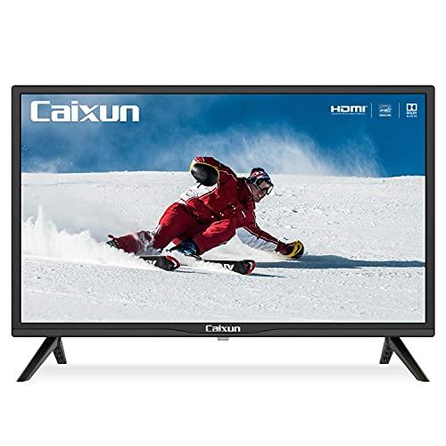 Caixun EC24Z2 TV 24 Pollici, HD Televisori, Dolby DTS, (Tuner Triplo (DVB-T2/T/S2/S), HDMI, USB, Media Player, [Classe di efficienza energetica F]