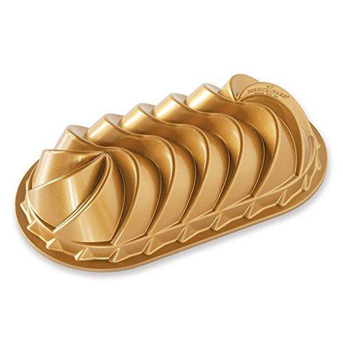 NordicWare Hochwertige Kuchenform Kastenform, Aluminium, Gold, 29 x 16,3 x 7,4 cm