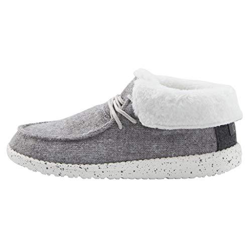 Hey Dude Women's Britt Charcoal Size 11   Women's Shoes   Women's Lace Up Boots   Comfortable & Light-Weight