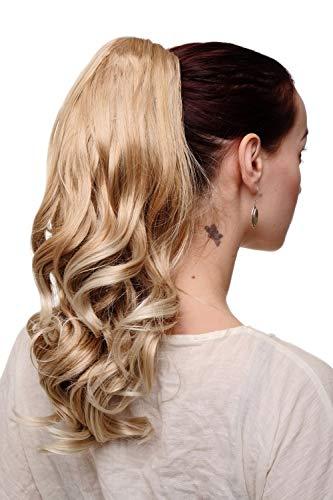 WIG ME UP - Extension natte queue de cheval pince-papillon mélange de blond ondulé SDM13045-16TKB88