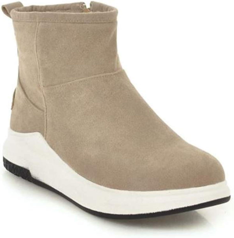 pink town Women's Platform Sneaker shoes Plus Velvet Winter Zip Snow Boots