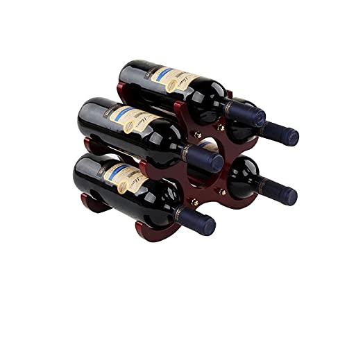 Botellero 1 UNID Creativo de Madera Estante de Vino gabinete de la Botella de la Botella de la Bandeja del Estante de la Sala de Estar de la Sala de Estar de la Barra de la Sala de Estar Decorativo