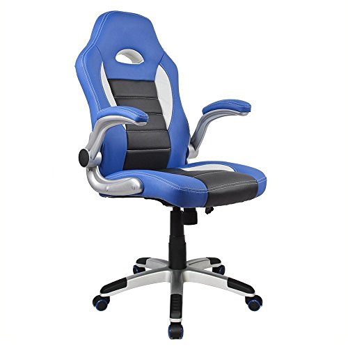 Homall Executive Swivel Leather Office Chair, Racing Chair High-Back Gaming Chair Pu Leather and...