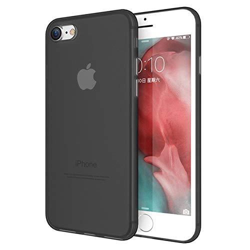 ZFLL Displayschutz Klare PC Hülle für iPhone 6 6s 7 8 Plus X Hülle Ultradünne Matte Girly Hülle für iPhone XR XS MAX 11 Pro Max Hülle, Schwarz, für i6 Plus 6S Plus