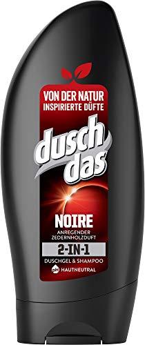 Duschdas 2-in 1 Duschgel & Shampoo Noire mit markant-anregendem Duft dermatologisch getestet, 6er Pack (6 x 250 ml)