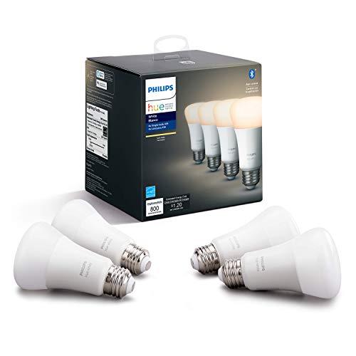 Philips Hue - Bombilla LED inteligente, funciona con Alexa y Asistente de Google, un dispositivo certificado para humanos