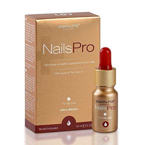 Simon & Tom NailsPro Dag Premium schimmelnagelbehandeling geschikt voor vinger- en teennagels, repareert en versterkt nagels, verrijkt met tea tree olie, kruidnagelolie en arganolie, 10 ml.
