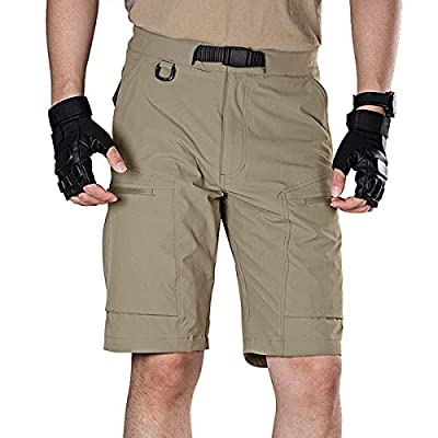 FREE SOLDIER Men's Lightweight Breathable Quick Dry Tactical Shorts Hiking Cargo Shorts Nylon Spandex (Mud 38W x 12L)