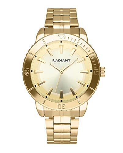 Reloj analógico para Hombre de Radiant. Colección Storm. Reloj con Brazalete Dorado con Esfera y Bisel a Tono. 5ATM. 44mm. Referencia RA570205.