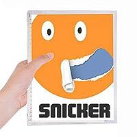 オレンジの広いスニッカーの曲がった感情 硬質プラスチックルーズリーフノートノート