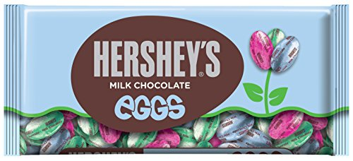 HERSHEY'S EGGS Chocolates, Creamy Solid Milk Chocolate Candy Individually Wrapped in Easter Packaging, 8 Ounce Bag (Pack of 6)
