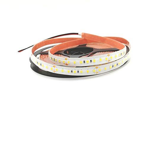 Rouleau 5 mètres bande lumineuse 600 lED 2835 sMD lumière chaude 5 m 24 V DC étanche IP67 en parylene avec adhésif double face 3 M Warm White Mod. Premium