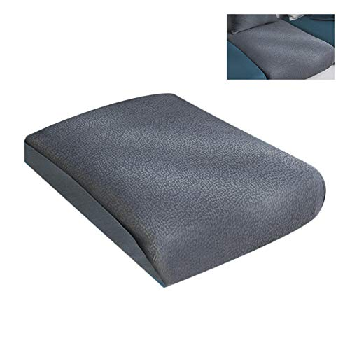 Buyfunny01 Stretch Couch Cushion Living om Elastic Home Decor sy Install Wear Resistant Washable Dustproof Replacement Parts Seat Slipcover Simple Daily Furniture Protector(LGrey)
